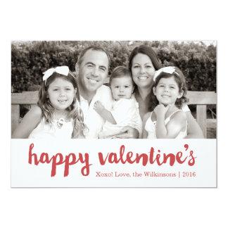 Happy Valentine's | Valentine's Day Photo Card 13 Cm X 18 Cm Invitation Card