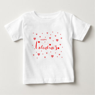 HAPPY VALENTINE's with red Hearts Baby T-Shirt