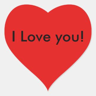 Happy Valentines's Day I Love You Heart Heart Sticker