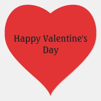 Happy Valentines's Day Love Red Heart Heart Sticker