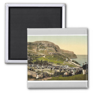 Happy Valley, Llandudno, Wales rare Photochrom Square Magnet