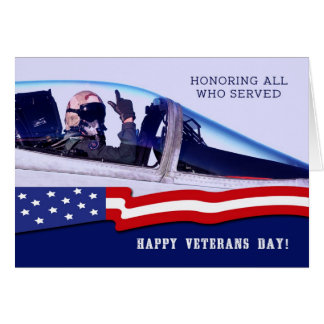 Happy Veterans Day Custom Greeting Cards