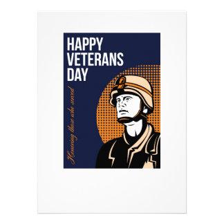 Happy Veterans Day Serviceman Greeting Card Custom Announcements