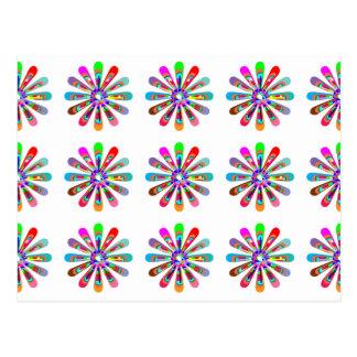 HAPPY Vibes :  Graphic Flower CHAKRA Art Post Card