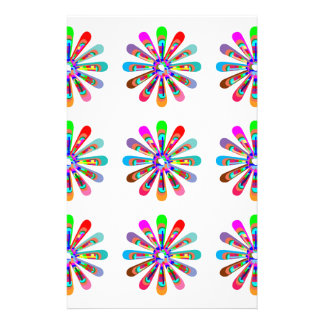 HAPPY Vibes :  Graphic Flower CHAKRA Art Stationery Paper