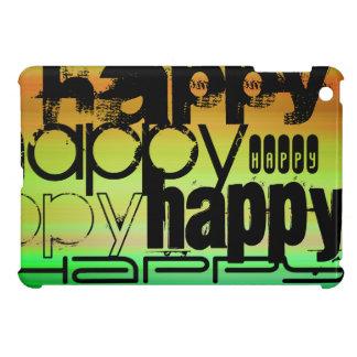 Happy; Vibrant Green, Orange, & Yellow iPad Mini Covers