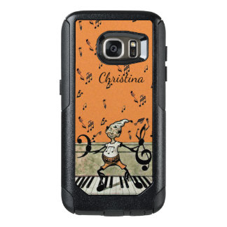 Happy Vintage Little Musical Elf on Piano keys OtterBox Samsung Galaxy S7 Case