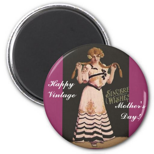 Happy Vintage Mother's Day! Fridge Magnets