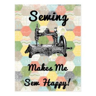 Happy Vintage Sewing Postcards