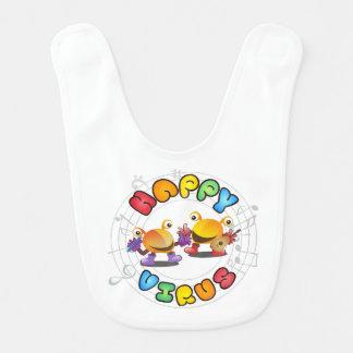 Happy Virus - Baby Bib