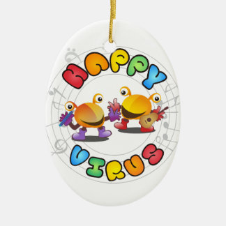 Happy Virus Product Range Ceramic Ornament