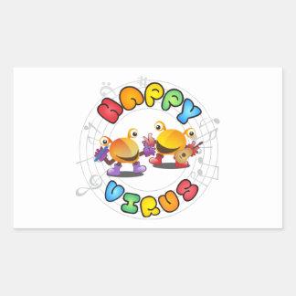 Happy Virus Product Range Rectangular Sticker