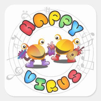 Happy Virus Product Range Square Sticker