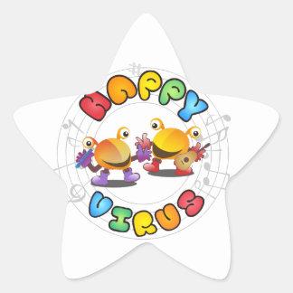 Happy Virus Product Range Star Sticker