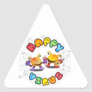 Happy Virus Product Range Triangle Sticker