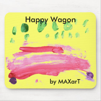 """Happy Wagon"" by MAXarT Mouse Pad"