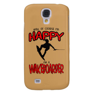 HAPPY WAKEBOARDER (black) Samsung Galaxy S4 Case