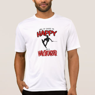 HAPPY WAKEBOARDER (black) T-Shirt