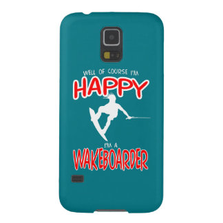 HAPPY WAKEBOARDER (white) Cases For Galaxy S5