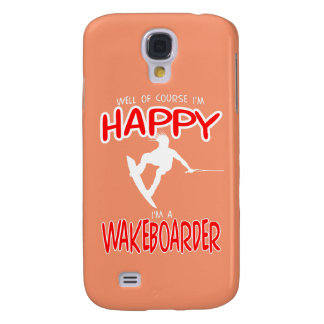 HAPPY WAKEBOARDER (white) Samsung Galaxy S4 Covers