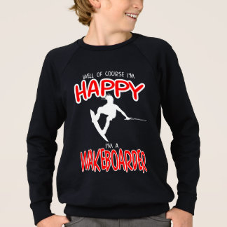 HAPPY WAKEBOARDER (white) Sweatshirt