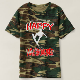 HAPPY WAKEBOARDER (white) T-Shirt