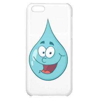 Happy Water Drop Cartoon Character iPhone 5C Case