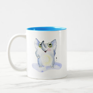 Happy Watercolor Elephant Collectable Two-Tone Coffee Mug