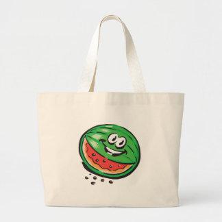 happy watermelon jumbo tote bag
