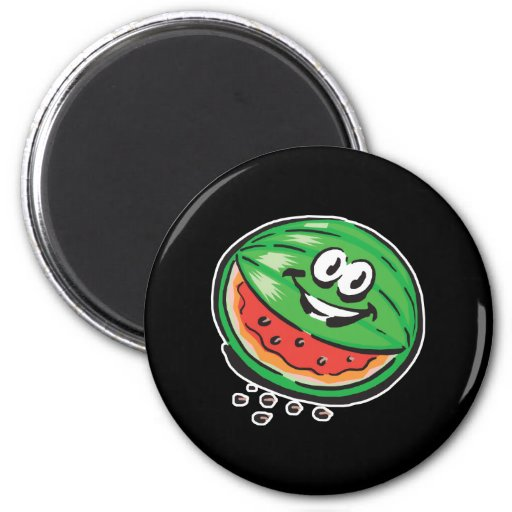 happy watermelon fridge magnets