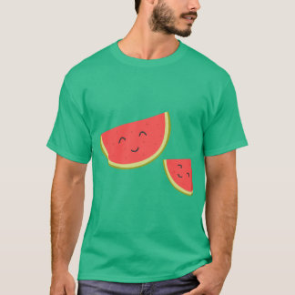 Happy Watermelon Men's Basic Dark T-Shirt