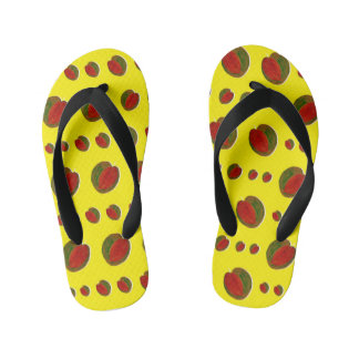 HAPPY WATERMELONS: yellow [childhood diary] Thongs