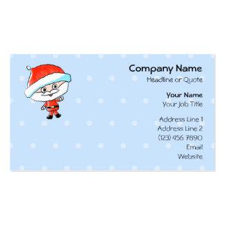 Happy Waving Christmas Santa Pack Of Standard Business Cards