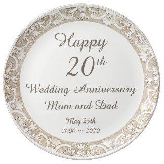 Happy Wedding Anniversary Commemorative Plate
