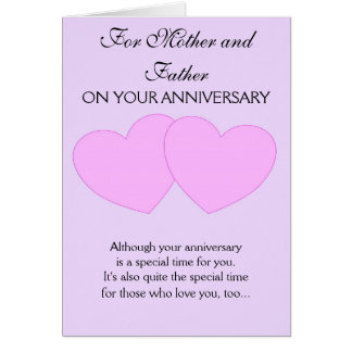 Happy Wedding Anniversary Mother And Father Card