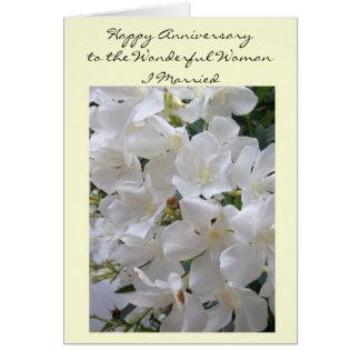 Happy Wedding Anniversary Wife Jasmine Card