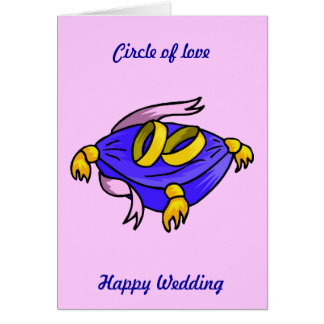 Happy wedding! Circle of love Greeting Card
