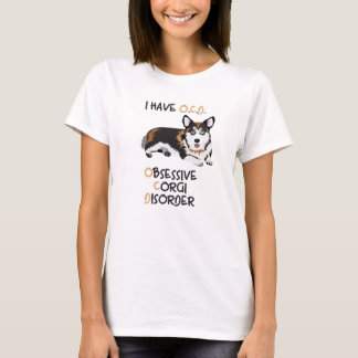 Happy Welsh Pembroke  - Obsessive Corgi Disorder T-Shirt
