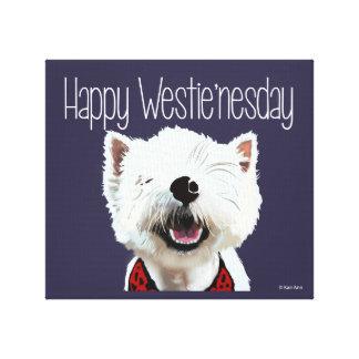 Happy Westie'nesday Canvas