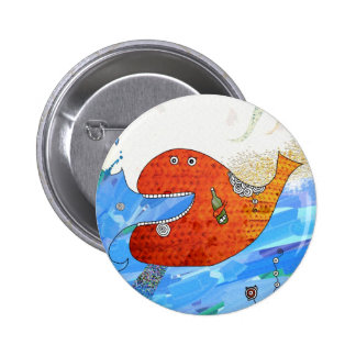 Happy whale Button by Krize Botones