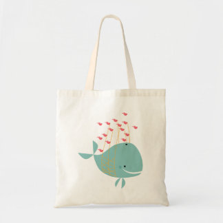 Happy Whale Tote Bag