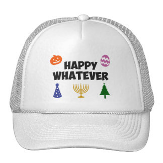 Happy Whatever Holiday Mesh Hat