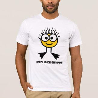 Happy When Swimming - Yellow Swim Character T-Shirt