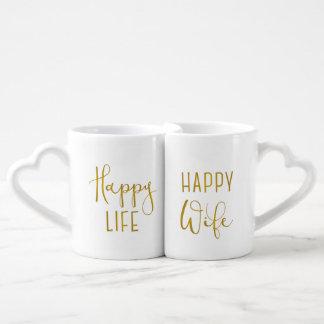 Happy Wife, Happy Life Coffee Mug Set