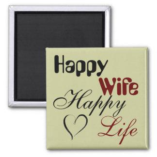 Happy Wife Happy Life Magnet