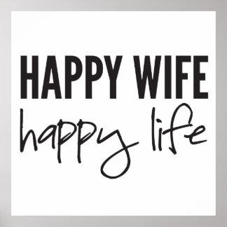Happy Wife Happy Life Poster
