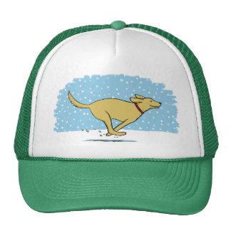 Happy Winter Snow Dog Holiday - Retriever Cap