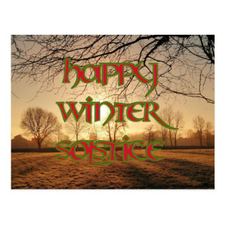 Happy Winter Solstice Postcard: Winter Sun Postcard
