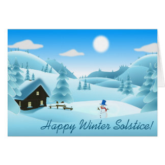 Happy Winter Solstice! Snowman Greeting Card