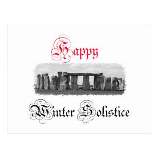 Happy Winter Solstice Stonehenge Postcards